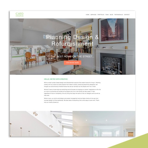 Squarespace Website for Interior Design Company