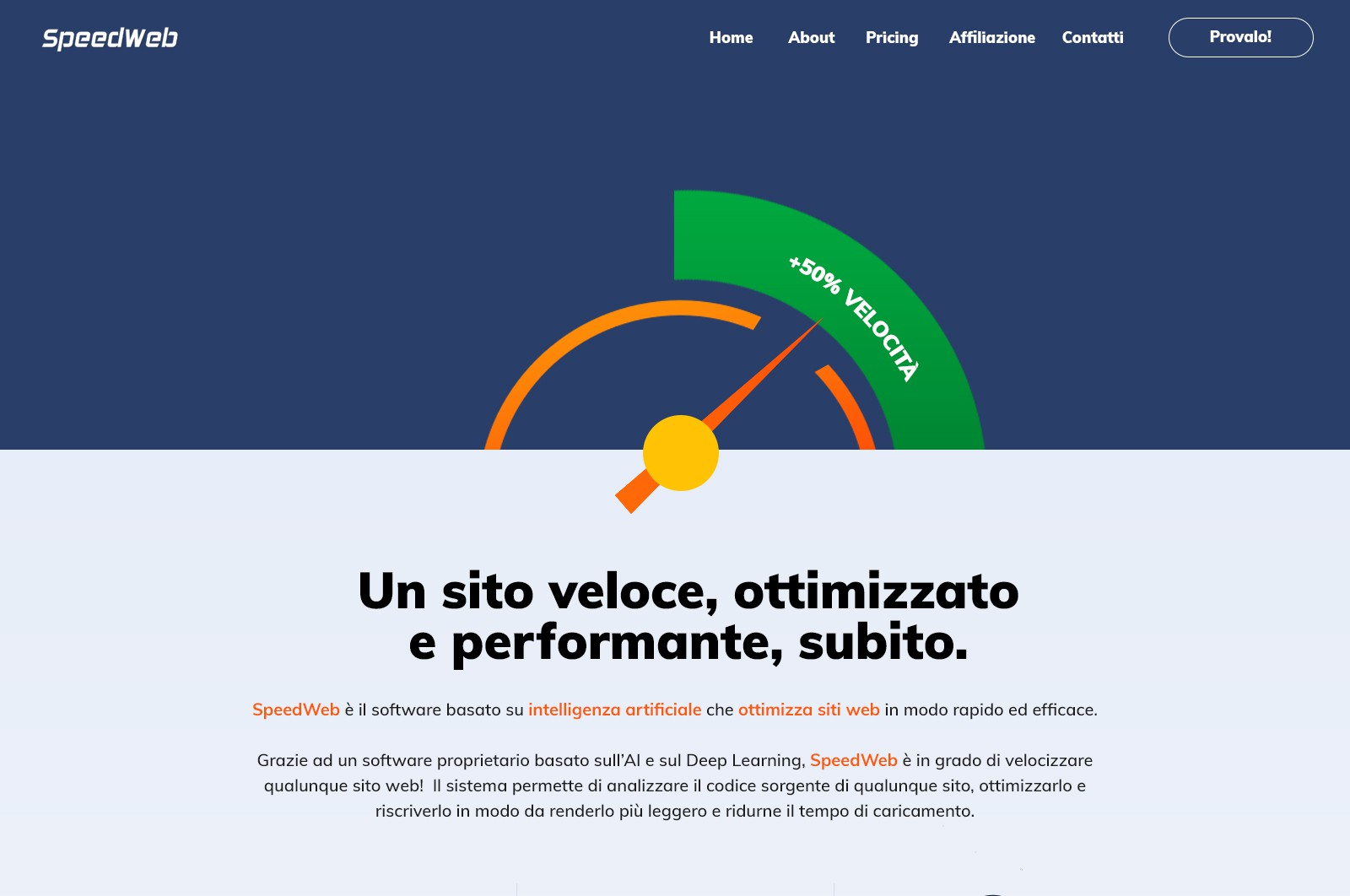 Design a clean and high readable homepage