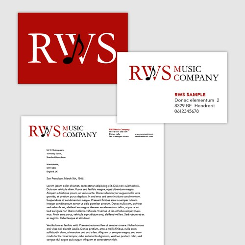 RWS Music Co. - Create a timeless brand identity for a music publisher