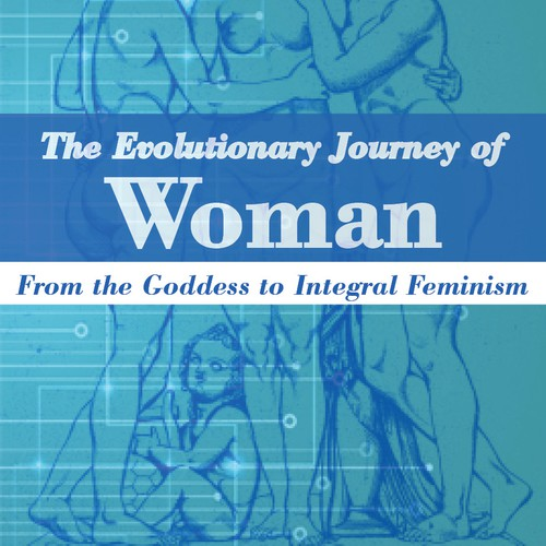 Create a book cover for an evolutionary history of women