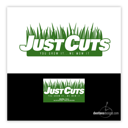 JUST CUTS landscaping identity