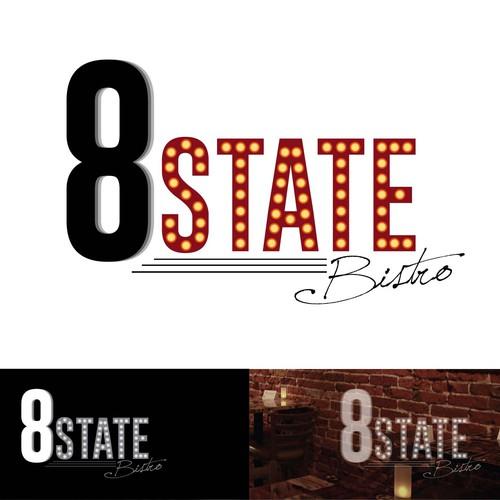 Logo Design for 8 State Bistro