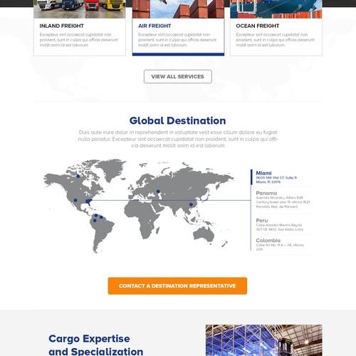 Logistic website design