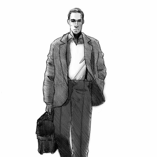 Illustrations for first chapter of The Great Gatsby