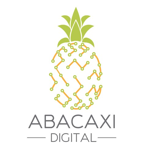 """Logo for Company meaning """"Digital Pineapple"""""""