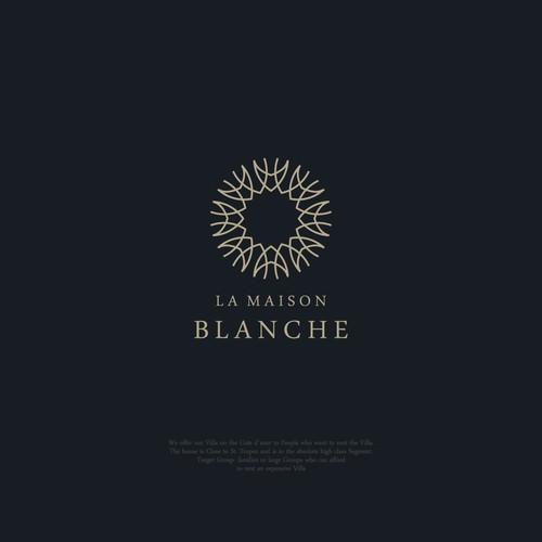 Logo concept for La Maison Blanche