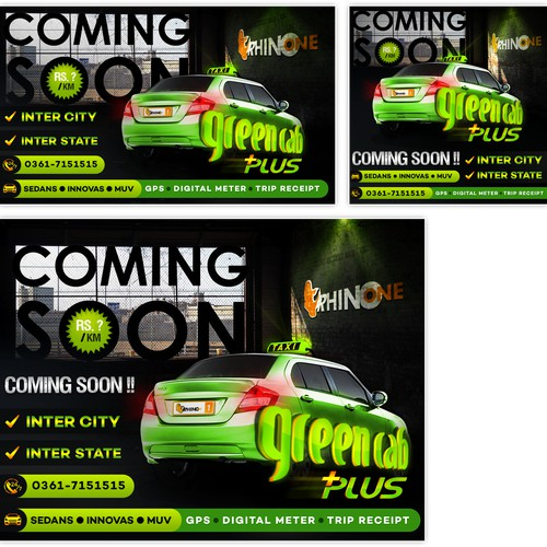 Create an eye catching design for new Cab service launch