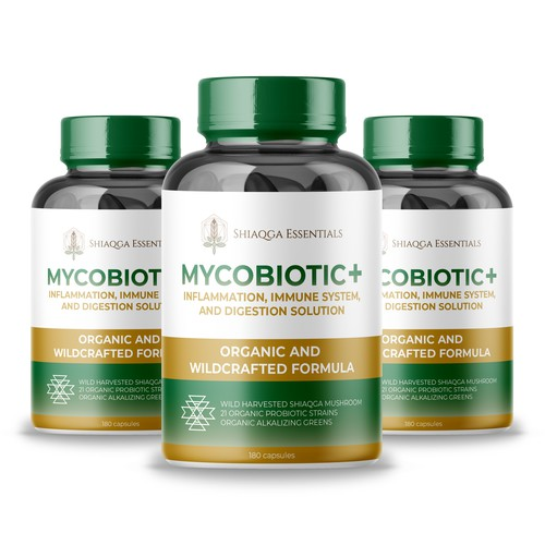 MYCOBIOTIC + Bills Bottle Package design