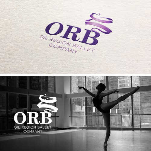 """Capture a splash of Elliptical movement in a vintage style for """"ORB"""" a performance ballet company."""