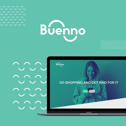 Rebranding of Buenno. Bold, fun & nice logo for Buenno