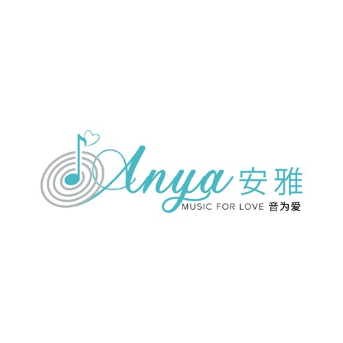 Anya Music Logo Design