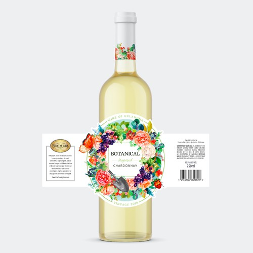 Winning wine label design