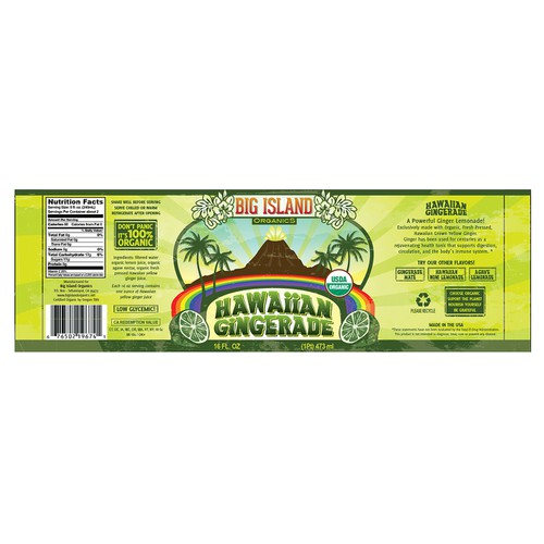 Create the next product label for Big Island Organics