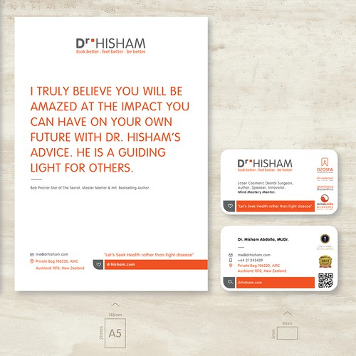 Dr.Hisham Brand stationery design