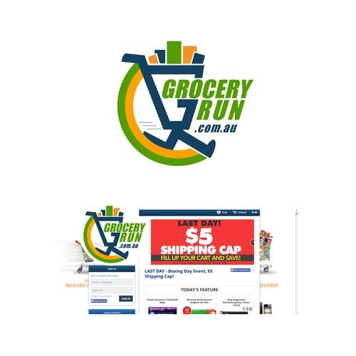 create a winning design for a market leader Groceryrun.com.au