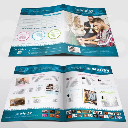 Bi fold Brochure for Wiplay Music