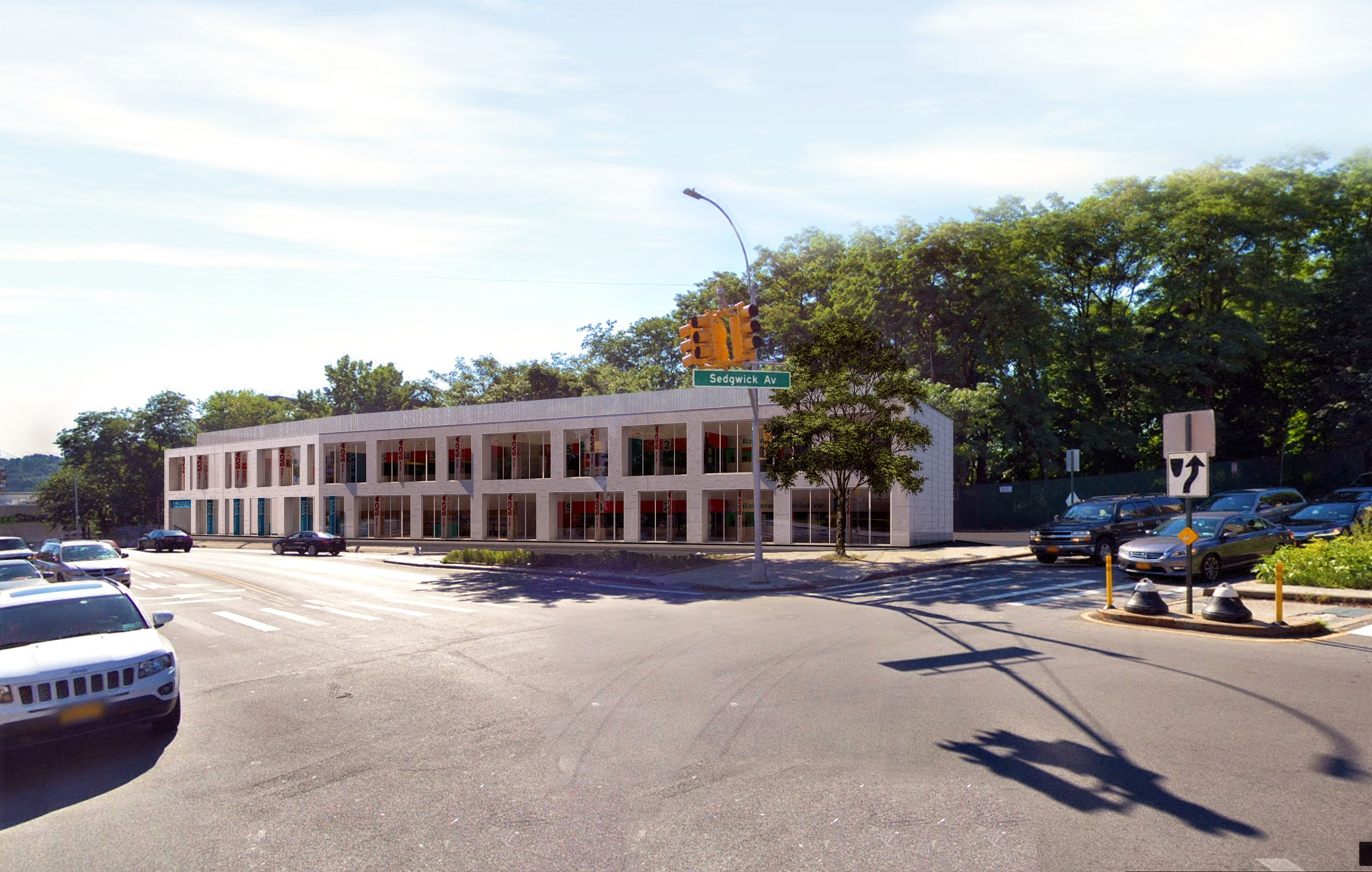 2 story building on 205 West Fordham Road