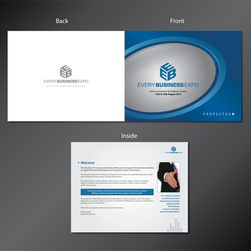 Powerpoint template design for business expo