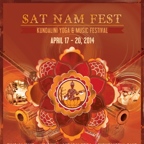 Help Design a GREAT music festival Poster/Flyer for Sat Nam Fest!