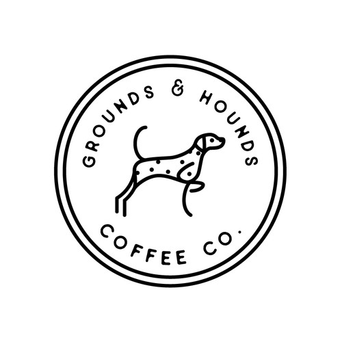 Grounds & Hounds Coffee Co. Logo
