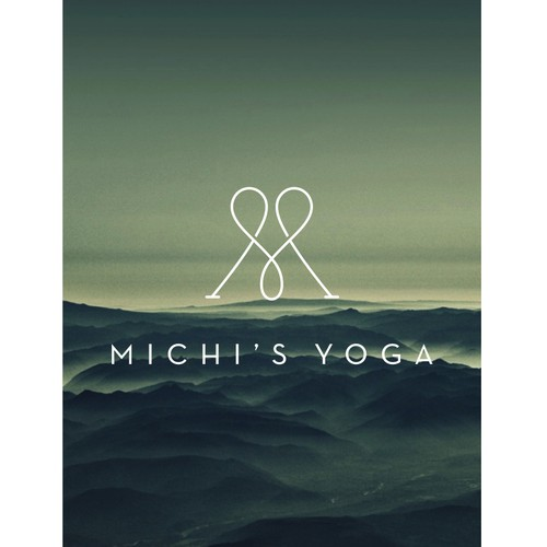 minimal logo monogram for yoga business