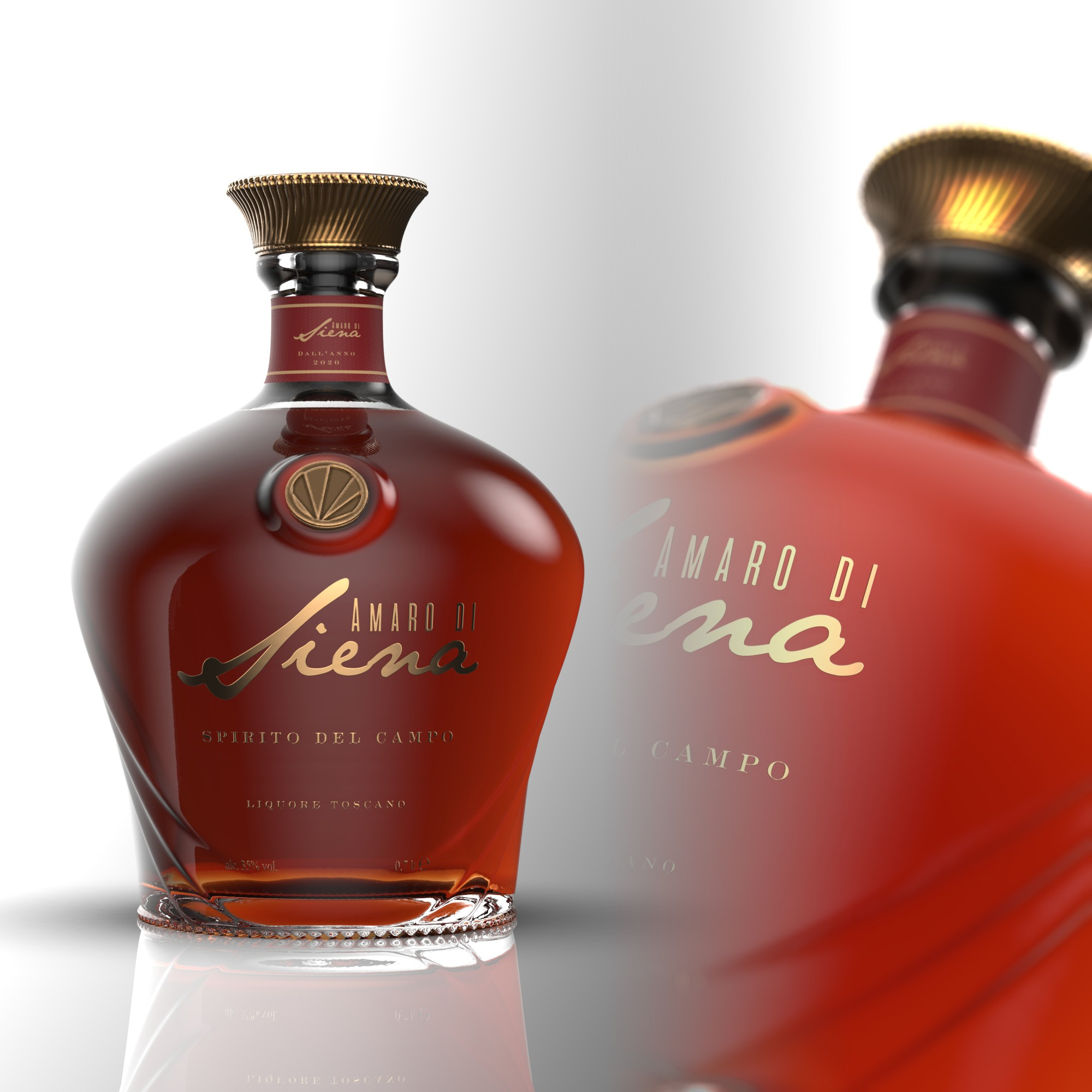 Logo, bottle and label for a brand new italian amaro (bitter)