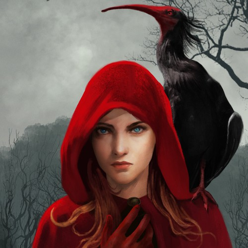 Design a fantasy novel cover for a book about blood magic