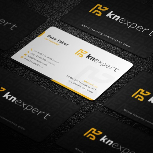 Modern Sleek Professional Business Card