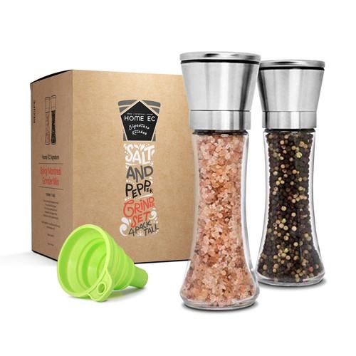 Salt and Pepper Grinder Set Design