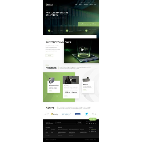 web design for technology company