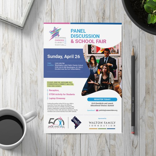 Flyer For Panel Discussion & School Fair