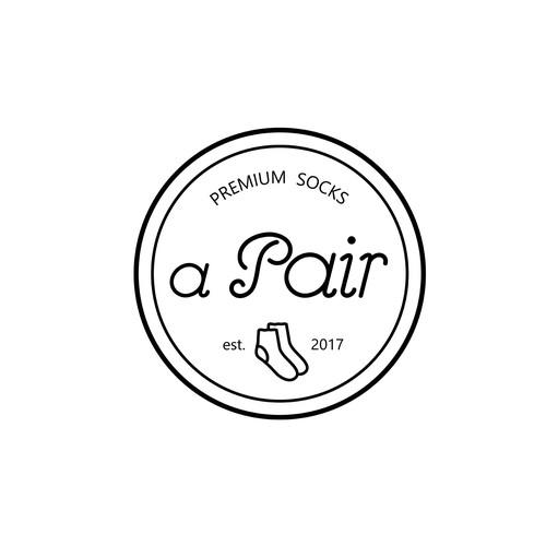 Logo for socks company