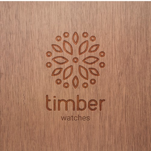 Logo for a wooden watch company
