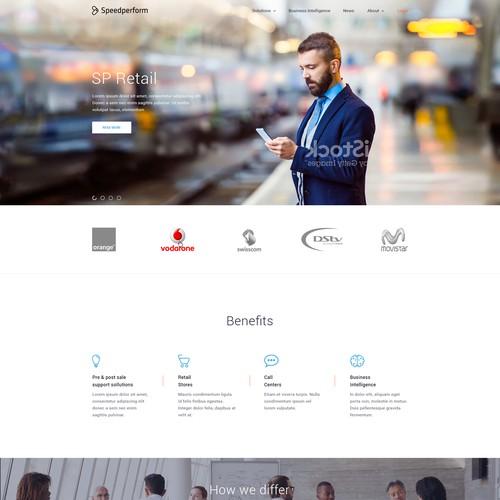 Speedperform Website Design