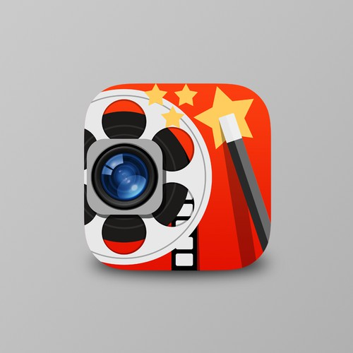 Create a compelling icon for a new iPhone photo/video application
