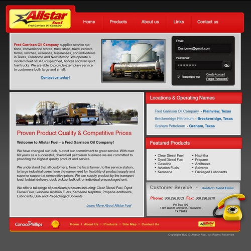 Create the next website design for All Star Fuel
