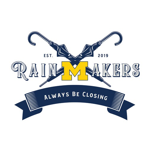 Logo for a Michigan University Business Club