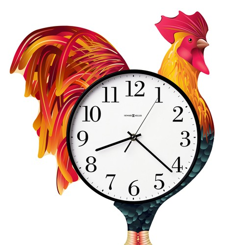 ROOSTER color illustration needed for Wall Clock!