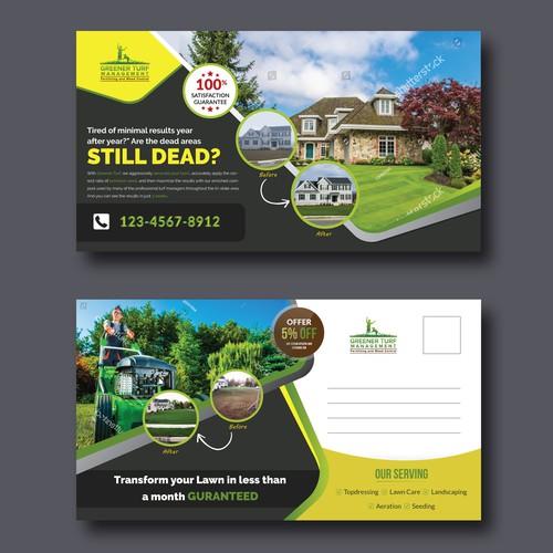Postcard for Lawn Care Company
