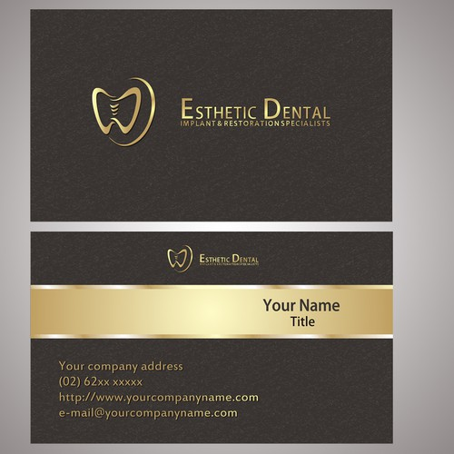Bold logo concept for dentistry