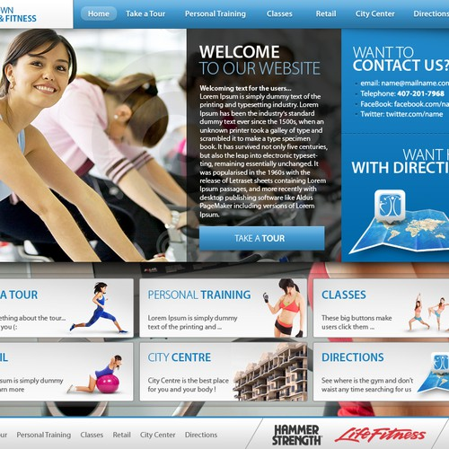 Web Design for Modern Gym/Fitness Center