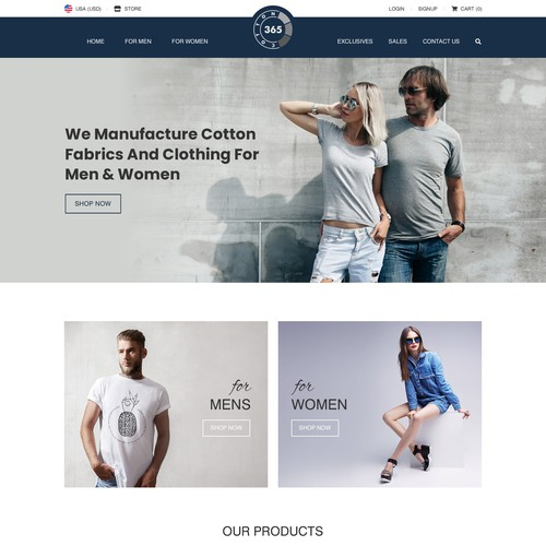 Cool fashion clothing brand needs new website