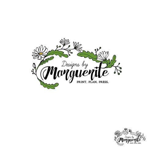 """Logo for """"Designs by Marguerite"""""""
