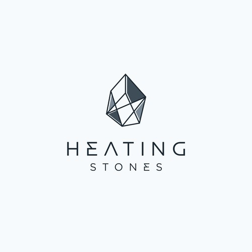 stone lineart with letter HS