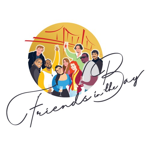 "Logo for ""Friends in the Bay"""
