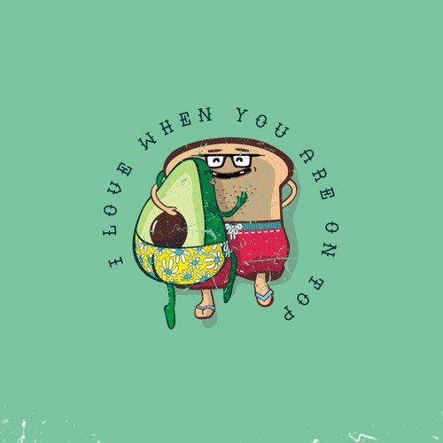 T-shirt design for avocadoish Toast