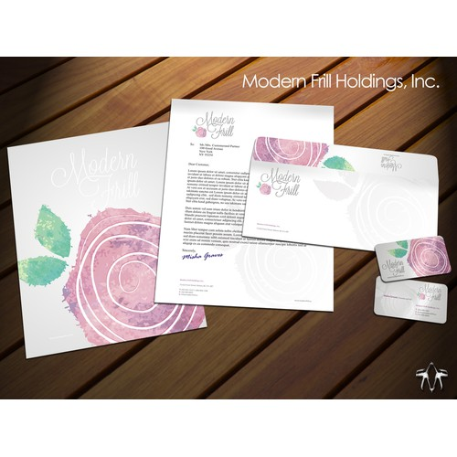 Help Design a Business Card and Stationery for Modern Frill!