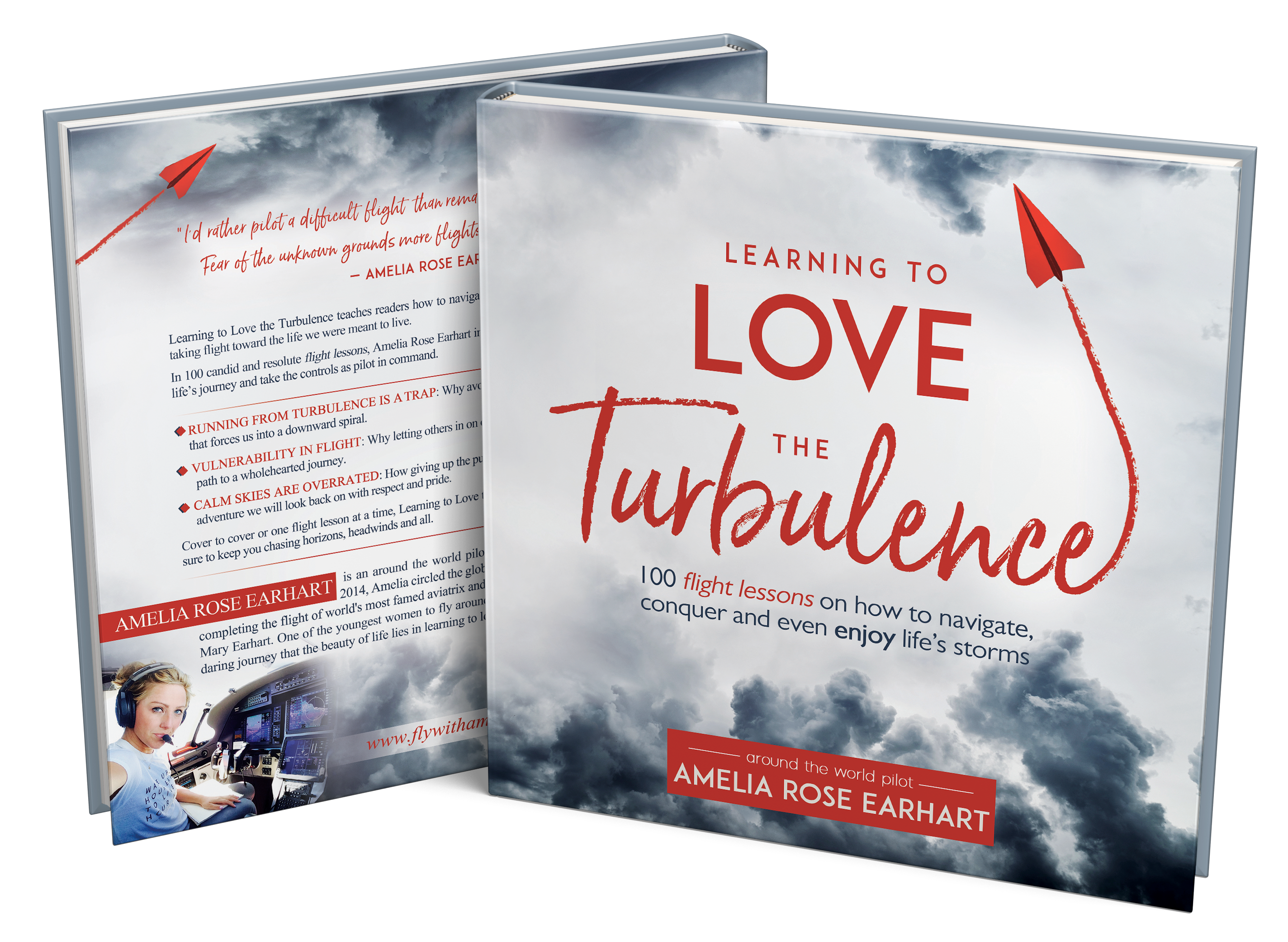 "Modern, bold book cover for ""Learning to Love the Turbulence"""