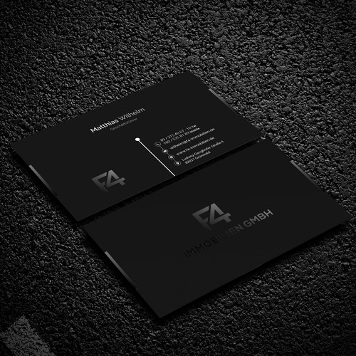 All Black Business Card