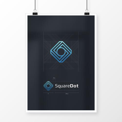 SquareDot logo concept